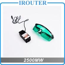 2,5 Watt Blaues Licht Laser Modul diode für Laser cnc Graviermaschine High-power 450 445nm Fokussierbar stromversorgung, 2500 mw laser