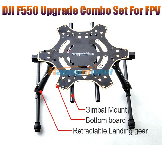 F550 Upgraded Bottom PCB Center Board with Retractable Landing Gear Skid Legs Combo Set for FPV w/ Gopro Camera Gimbal Mount hml350pro fpv auto retractable landing gear skid controller for phantom 1 2 vision fc40 rc quadcopter diy drone f16326