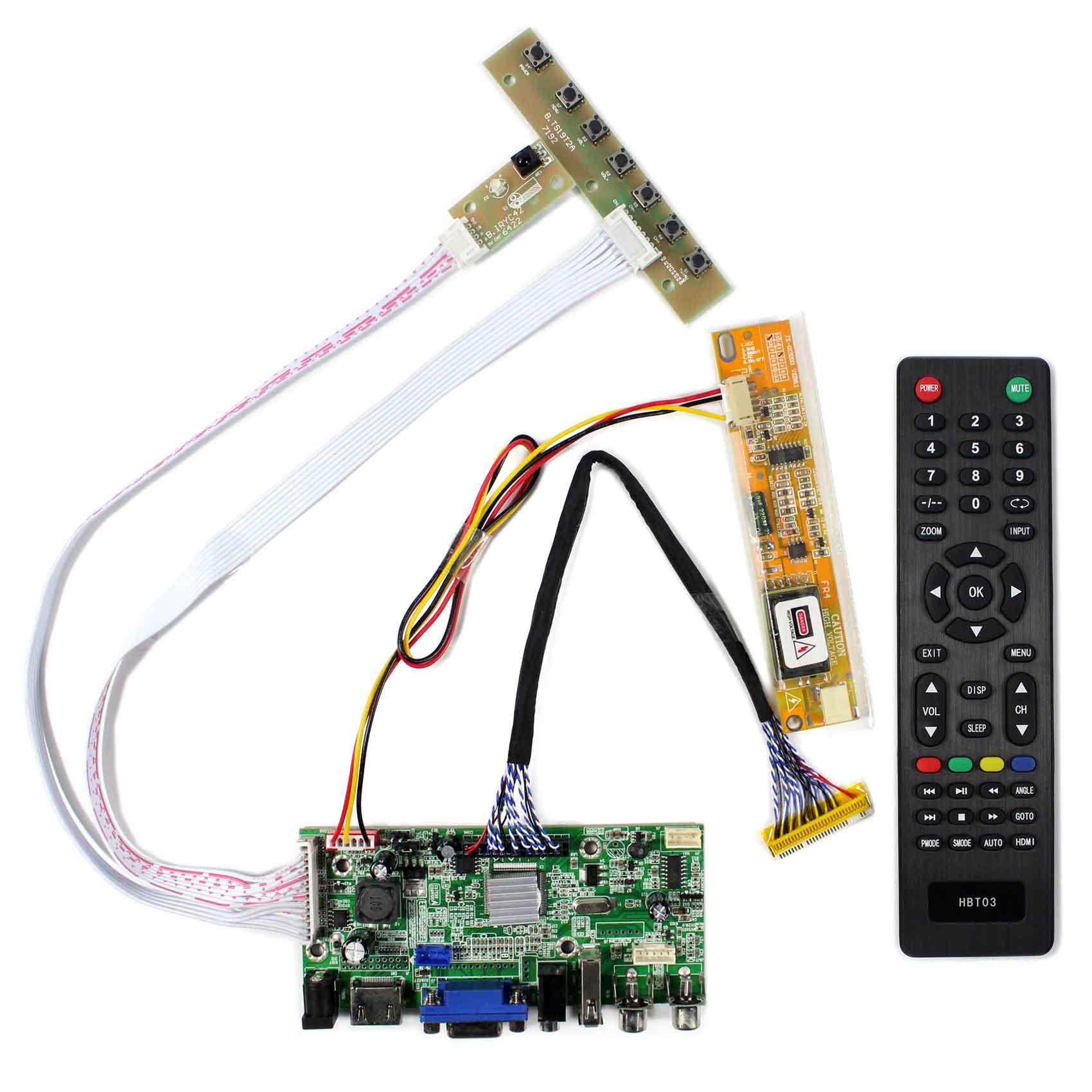 HDMI+VGA+2AV+USB+Audio LCD Controller Board for 15.4inch 17inch 1440x900 LP154WP1 B170PW03 LCD Screen hdmi vga 2av audio lcd driver board for 17inch 19inch m190eg03 1280x1024 lcd m170eg01 m170en06 5 ltm170e6 ltm170e8 hsd170me13
