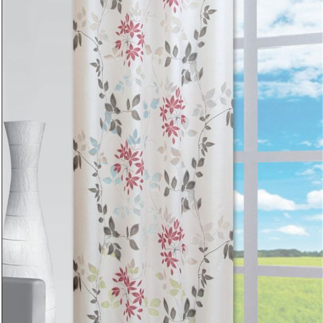 Roman Shade European Burnout Style Tie Up Window Curtain Kitchen Voile Sheer Tab Top