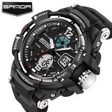 2017 Venta Sanda Reloj Led Digital Hombres de Primeras Marcas de Lujo Famoso Deporte de Pulsera Hombre Reloj Electrónico Digital de reloj Del Relogio Masculino