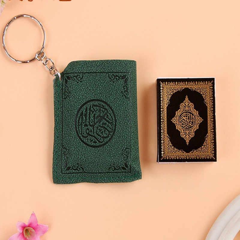 2019 ファッションジュエリーミニアラビアコーランコーランイスラムイスラムアッラーリアル紙読むことができますペンダントキーリングファッション宗教ジュエリー