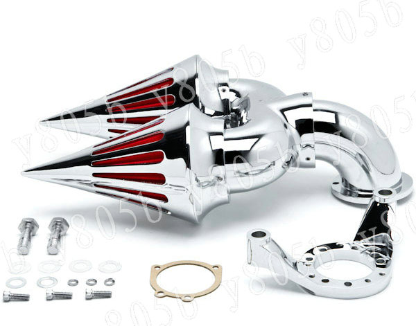Army Motorcycle Custom Air Cleaners : Chrome motorcycle spike intake air cleaner kits for harley
