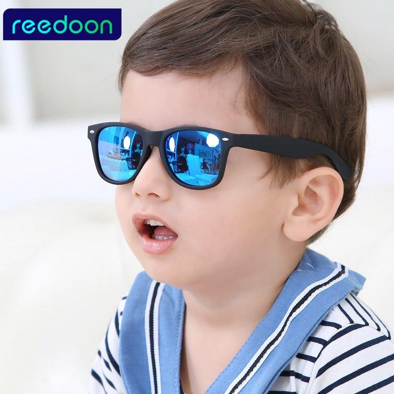 REEDOON 2017 New Fashion Children Sunglasses Kids Boy Girl Sun Glasses Plastic Frame 8 Colors Cute Cool Goggles UV400