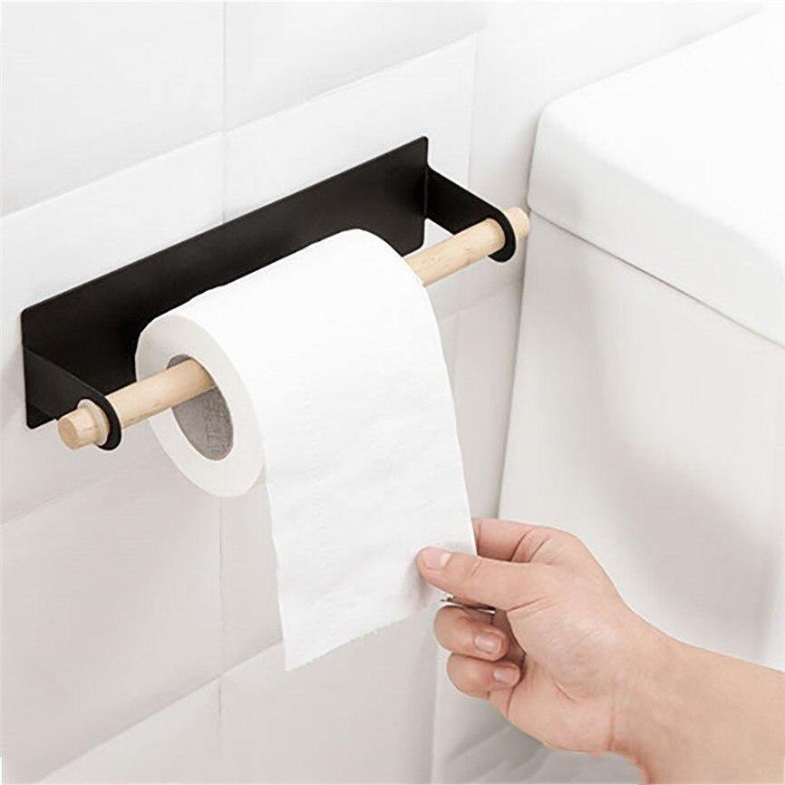Hook Type Kitchen Roll Adhesive Paper Towel Holder Under ...
