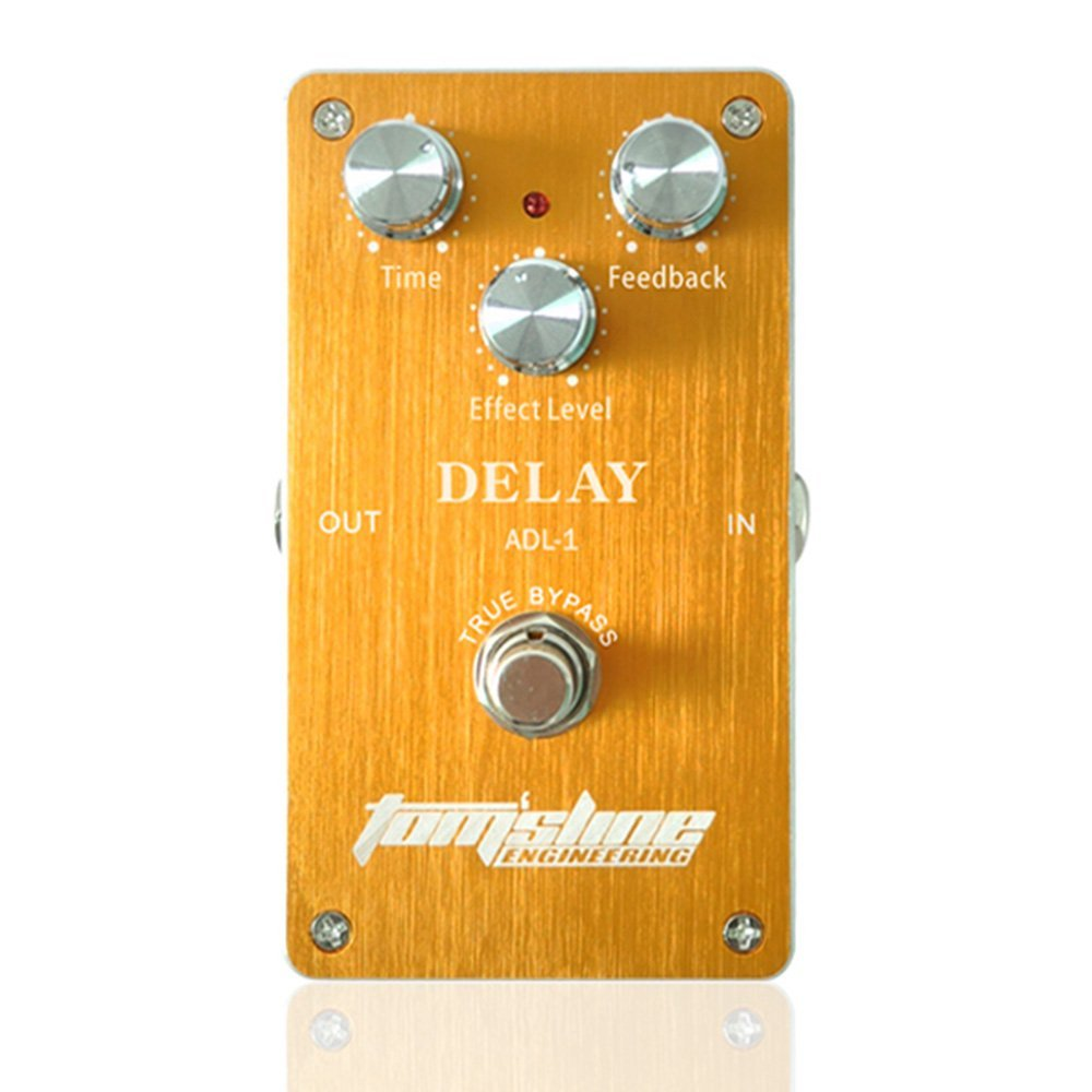 Aroma TomSline ADL-1 Delay Electric Guitar Effect Pedal True Bypass with Aluminum Alloy Housing aroma adl 1 aluminum alloy housing true bypass delay electric guitar effect pedal for guitarists hot guitar accessories