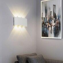 白黒壁ランプアルミランプシェード照明器具ベッドサイド、リビングルームライトAC85 260Vウォームまたはクールホワイト照明
