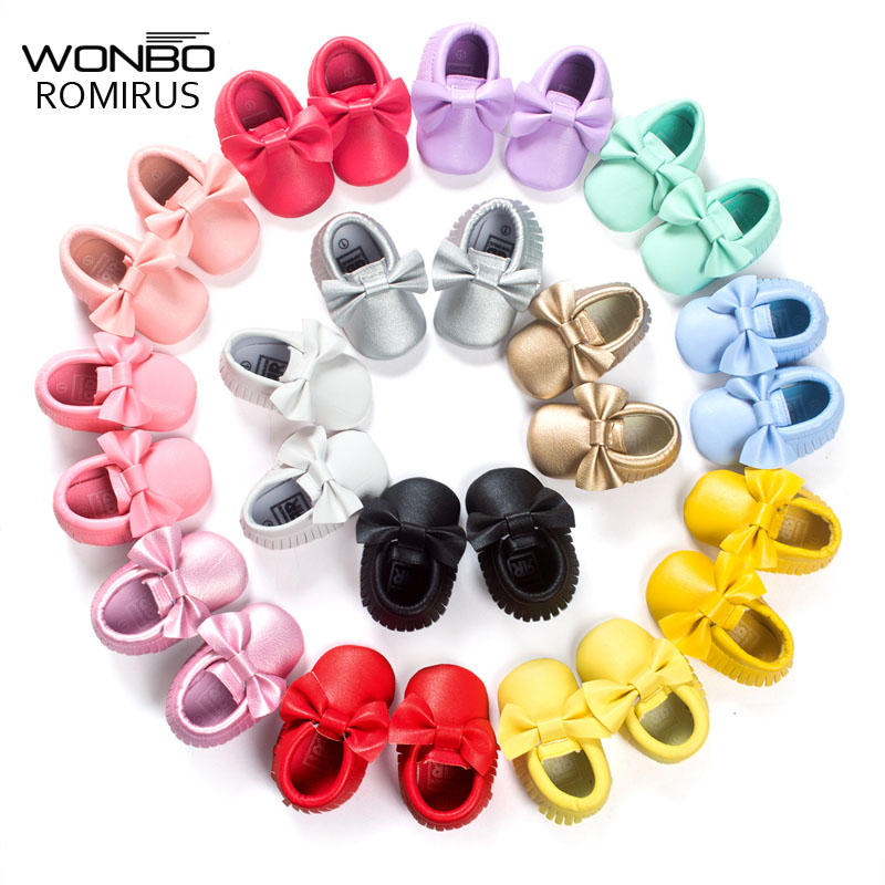 16 Colors Brand Spring Baby Shoes PU Lea