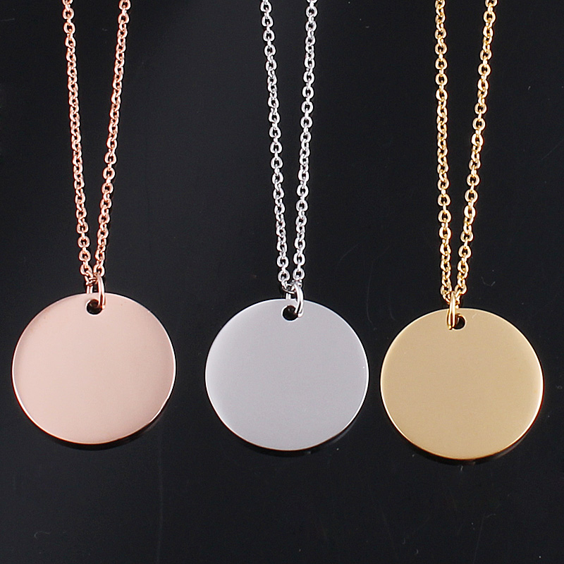 Rose goldgoldsilver disc pendant collar necklace jewelry crystal rose goldgoldsilver disc pendant collar necklace jewelry crystal circle colares necklaces pendants for women in pendant necklaces from jewelry mozeypictures Image collections