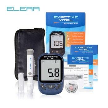 MICROTECH médico CE FDA Certificado de glucosa en sangre metros Monitor diabéticos prueba glycuresis Monitor 50 tiras + 50 agujas