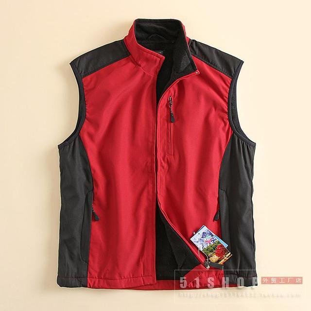 2016 New Men Outside casual vest  Winter stand collar plus Polar Fleece Waterproof outerwear men vest  Plus Size M/L/XL