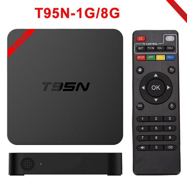 Caixa de TV Android S905 T95N-Mini MX + Android 5.1 Caixa De TV Amlogic Quad Core 2.4 GHz WiFi 2.0 KODI 16.0 1G 8G Set Top Box Inteligente