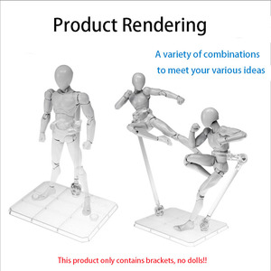 Image 2 - 10 Pcs Action Figure Base Suitable Display Stand Bracket for 1/144 1/100 Hg/rg Sd Rabot/animation Stage Act Suit