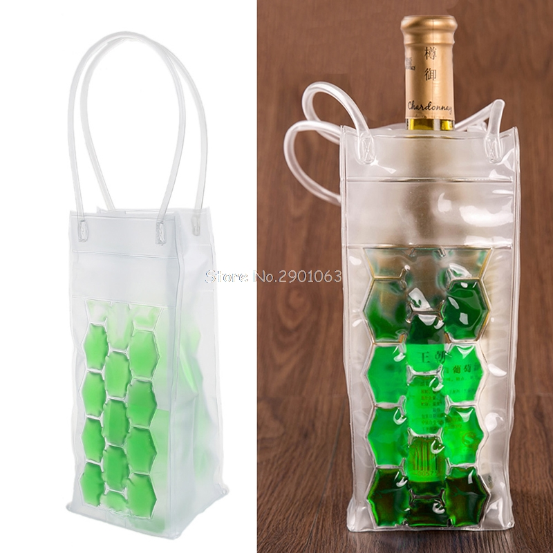 PVC Wine Bottle / Ice Bag Rapid Cooler Cool Can Cooling Gel Holder Gift Party H06