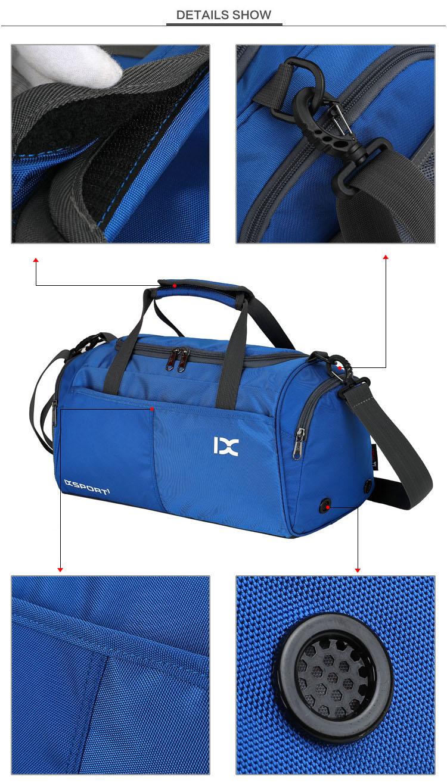 26155460ed71 Sport Gym Bag Outdoor Waterproof Women Big Tote bag School Fitness Bag Men  Travel Shoulder Training Camping Yoga Duffle Bag