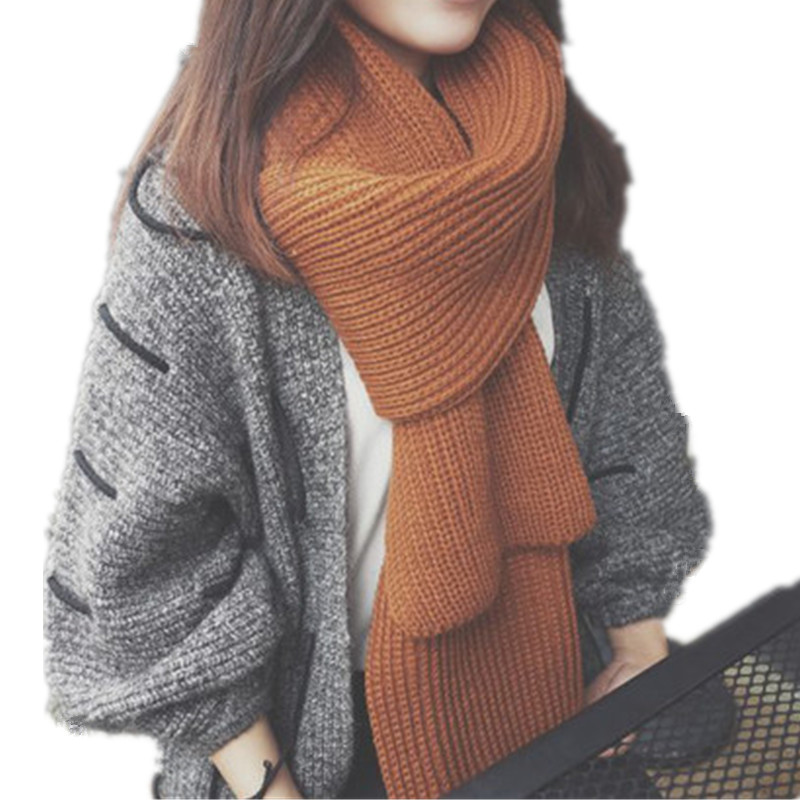 Luxury Brand Lovers Knitted Scarf Winter Lengthen Thicken Crochet Fashion LICS Scarf Collar Shawls Stoles Scarves LIC For Women