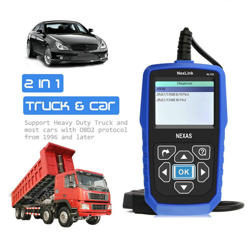 Image 2 - NEXAS NL102 Heavy Duty Truck Scanner OBDII / EOBD / HDOBD Scanner for Truck and Car Engine Brake Transmission Diagnostic Tool-in Engine Analyzer from Automobiles & Motorcycles on