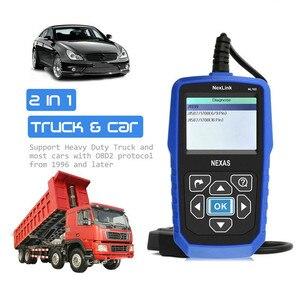 Image 2 - NEXAS NL102 сканер для тяжелых грузовиков OBDII / EOBD / HDOBD сканер для грузовиков и автомобилей диагностический инструмент для передачи тормозов двигателя