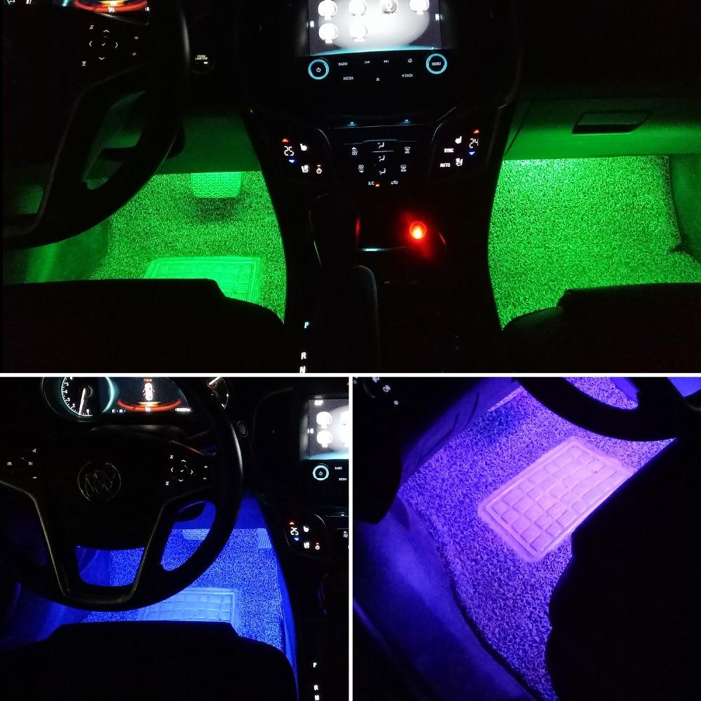 4pcs car rgb led strip light led strip lights colors car styling decorative atmosphere. Black Bedroom Furniture Sets. Home Design Ideas