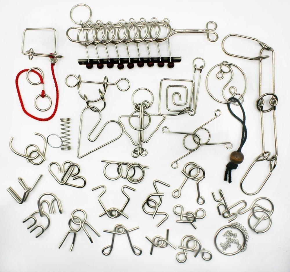 25PCS / Set IQ Metal Wire Puzzle Дәстүрлі білім беру - Ойындар мен басқатырғыштар - фото 1