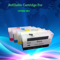 4 Pack Refillable Ink Cartridge For HP 950 HP 951 HP Pro8100 HP Pro8600 With Latest