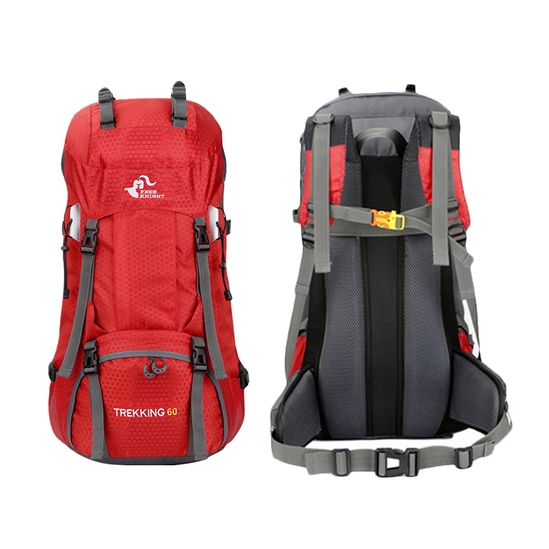 60L Outdoor Camping Backpack Bag With Rain Cover Waterproof Mountaineering Hiking Backpacks Molle Sports Bag Climbing Rucksack