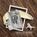 Bebé Choses 6 unids/lote Niña Ropa Niñas Abrigo de Otoño Tigre de los Muchachos de La Manga Larga Tops Vetement Garcon Camiseta Infantil Menino
