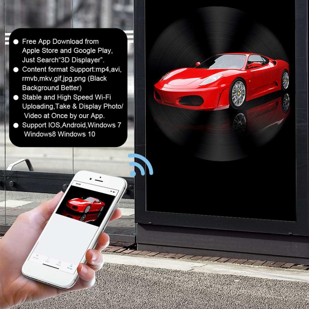 Nouvelle lumière d'hologramme de la conception 50CM avec le contrôle de wifi ventilateur LED d'affichage de publicité d'hologramme 3D holographique pour la station de magasin de vacances - 5