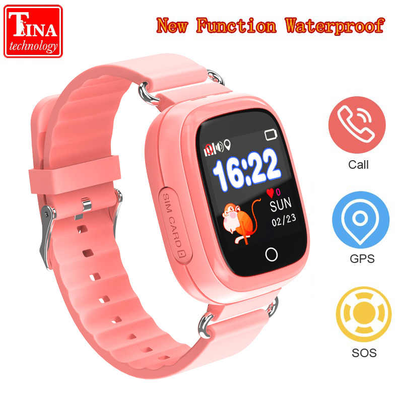 New Waterproof Q90S GPS Phone Positioning Fashion Children Watch 1.22 Inch Color Touch Screen WIFI SOS Smart Watch PK Q80 Q50