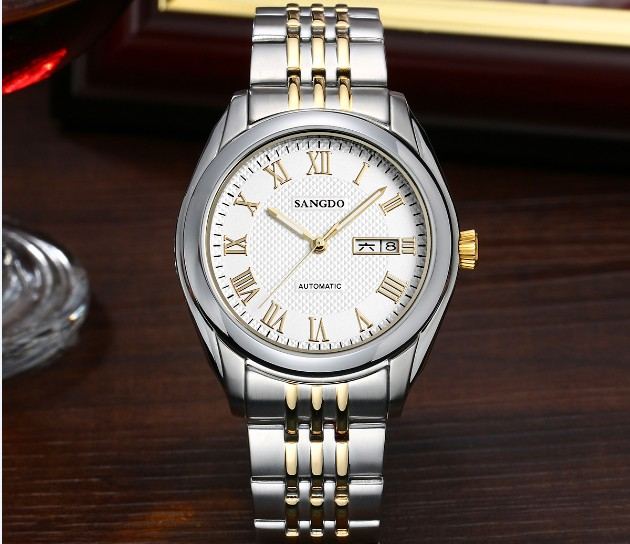 40mm Sangdo Luxury watches Automatic Self-Wind movement  High quality Business watch Auto Date Roman dial Men's watch 65A
