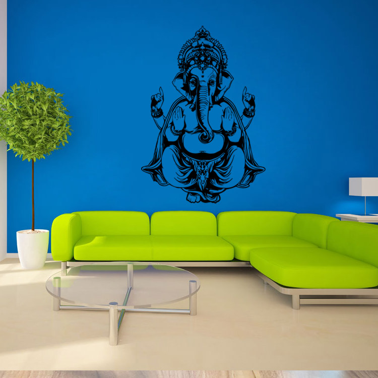 ganesh the elephant god yoga mandala decorative wall stickers room