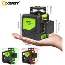 XEAST XE-902 8 Линейный лазерный уровень 360 самонивелирующий 3D лазерный уровень вертикальный и горизонтальный крест супер мощный зеленый лазерный уровень