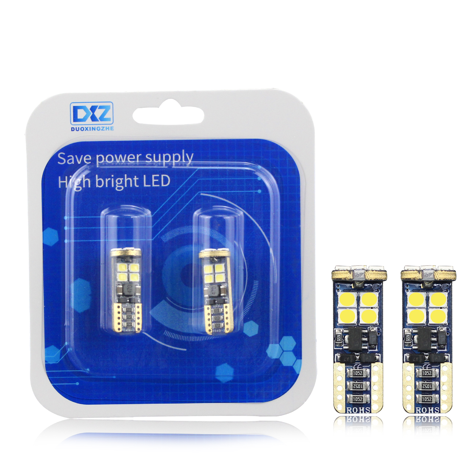 DXZ 2Pcs High quality T10 CANBUS 12SMD 3030 LED White Car Side Tail Light Bulb t10 canbus Error Free w5w 194 168 led styling