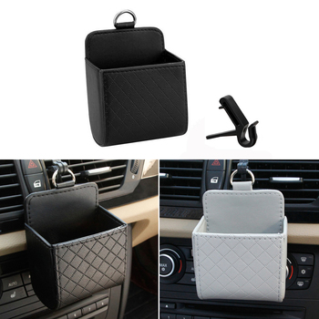 Car Storage Box Leather Organizer Bag Phone Key Holder For Volkswagen Polo Passat B6 BMW F10 F30 E60 Ford Focus 2 3 Fiesta image