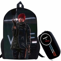 Twenty One Pilots Backpack For Teenage Boys Girls Student School Bags Children Daily Bag Hip Hop Backpack with Pencil Bag