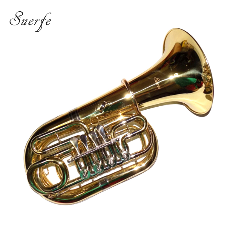 Bb Junior Tuba 4 Valves Height 612mm Lacquer With Case And Mouthpiece Instrumentos Musicais Profissionais