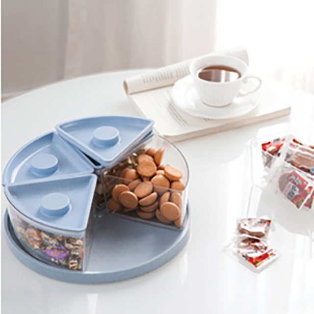 kitchen plates kingston brass faucets snacks box fruit dishes saucer snack tray colorful serving with cover kjl079
