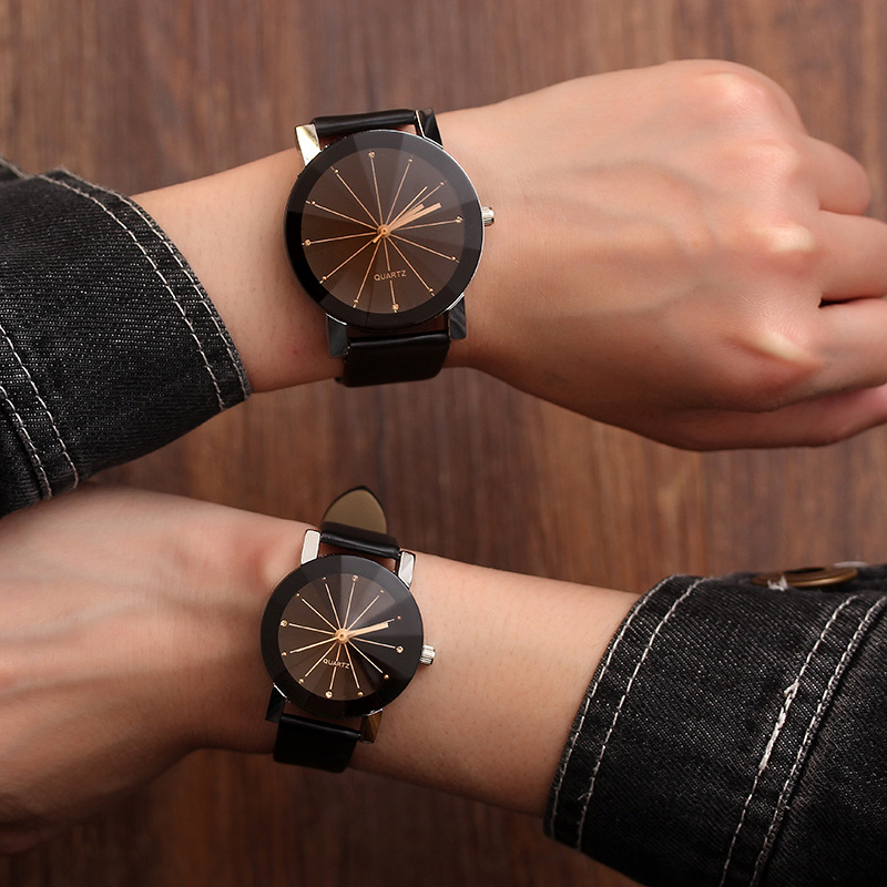 Lovers Watch Women Men Clock Couple Wrist Watches For Love Ladies Female Male Quartz Wristwatch Hours Girlfriend Boyfriend Gifts