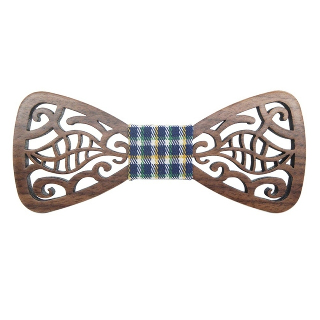 New Style Wooden Fashion Hollow Wood Bow Ties for Men Wedding Suits Bow Tie Butterfly Shape Bowknots Gravatas Slim Cravat
