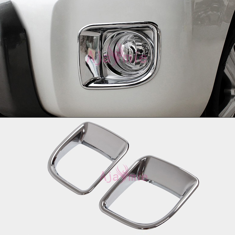 2012-2015 Front Lamp Cover Light Overlay <font><b>Frame</b></font> Trim Kit Chrome Panel Car-Styling For Toyota LC Land Cruiser 200 Accessories image
