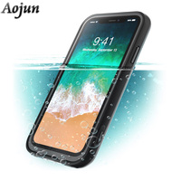 Original Aojun For IPhone X Waterproof Bag Diving Underwater PC TPU Armor Cover For IPhone X