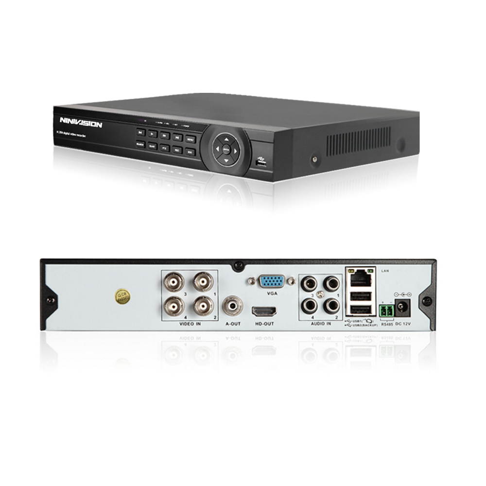 NINIVISIO CCTV system 1080 p Volle HD 4CH DVR 4 stücke 2.0MP 3000TVL Dome Sicherheit Kamera 24 stücke IR LED indoor Hause Überwachung System