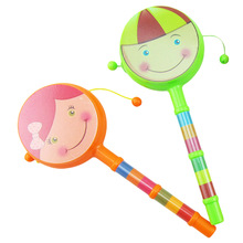 Color Random Baby Intelligent Percussion Shaking Rattle Drum Educational Musical Instrument Toys Christmas Halloween Gifts