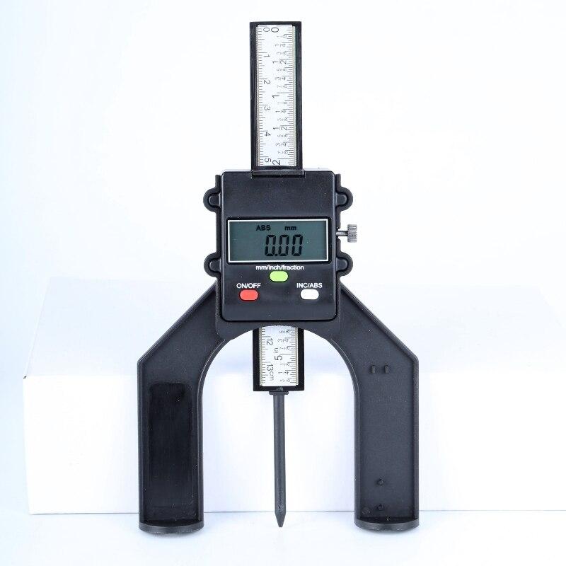 0-130mm Calibro di Profondità Digitale Calibro Altezza Table Saw 80mm 3 Unità Pollici/mm/Frazione Vite di bloccaggio Router Lavorazione Del Legno Strumenti Tabella