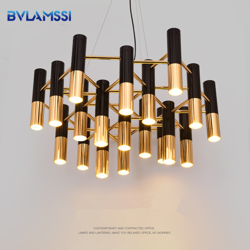 Modern Pendant Lamp Golden Black chandelier Metal LED Hanglamp For Living Room Dinning Room Kitchen Fixtures LightingModern Pendant Lamp Golden Black chandelier Metal LED Hanglamp For Living Room Dinning Room Kitchen Fixtures Lighting