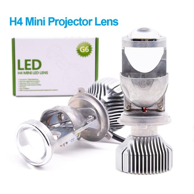2 Stuks 1.5 Inch H4 Led Mini Projector Lens Voor Auto Motorfiets Hoge Dimlicht Led Conversion Kit Lamp Koplamp 12V/24V 5500K