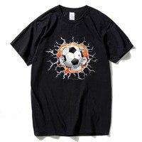 Creative Crack 3D T Shirt Footballer Men Fashion Cotton Brazil Tshirts Funny Tops Homme Tees Fitness