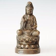 ATLIE BRONZES Copper Buddha statue Bronze Guanyin Bodhisattva Figure The Goddess Of Mercy Religious figure