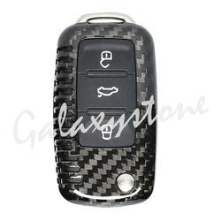 1 шт. углеродного волокна авто удаленный ключевой чехол подходит для VW Seat Skoda