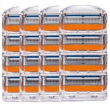 16 Pcs / Pack. Men Razor Blades High Quality Shaving Cassettes Facial Care Compatible Gillettee Fusione